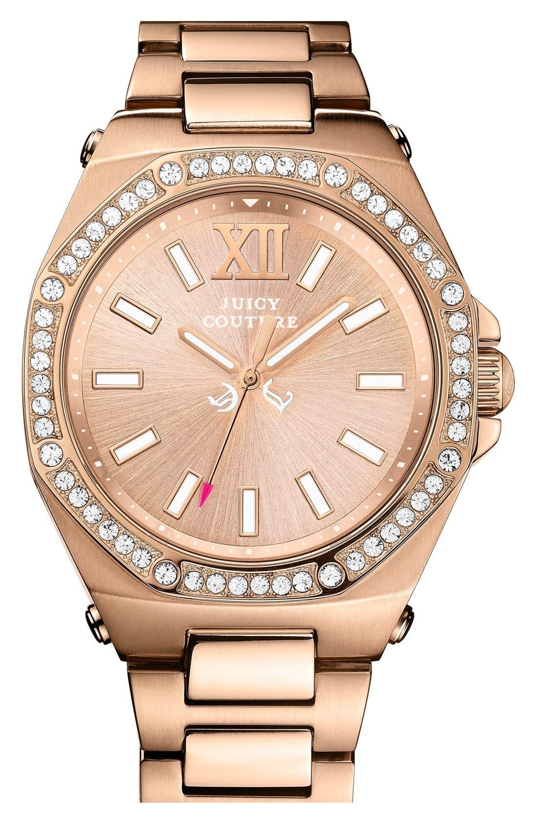 Alternate Image 1 Selected - Juicy Couture 'Chelsea' Octagonal Bracelet Watch, 42mm