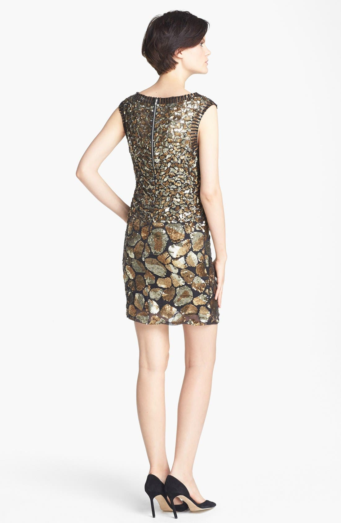 Alternate Image 2  - Tracy Reese Cheetah Detail Sequin Dress