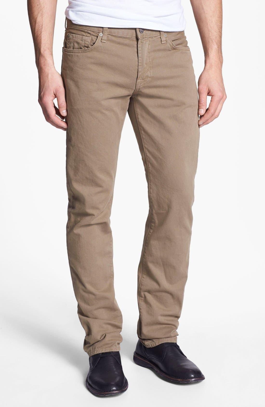 Alternate Image 2  - 7 For All Mankind® 'Slimmy' Slim Fit Jeans (Dark Khaki)