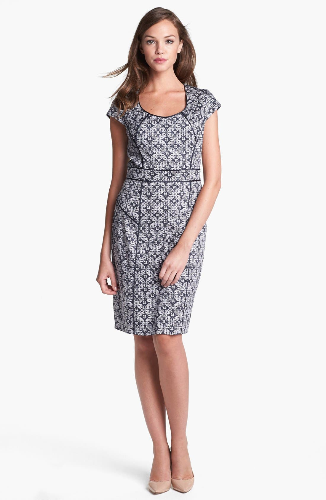 Main Image - Adrianna Papell Mosaic Print Dress