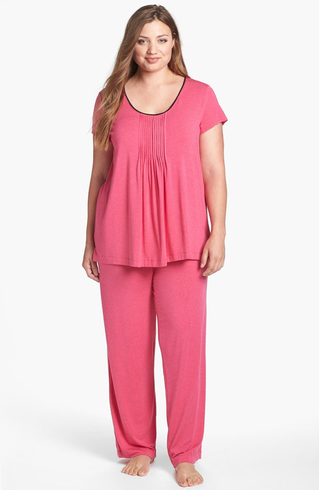 Alternate Image 3  - DKNY '7 Easy Pieces' Pintuck Top (Plus Size)