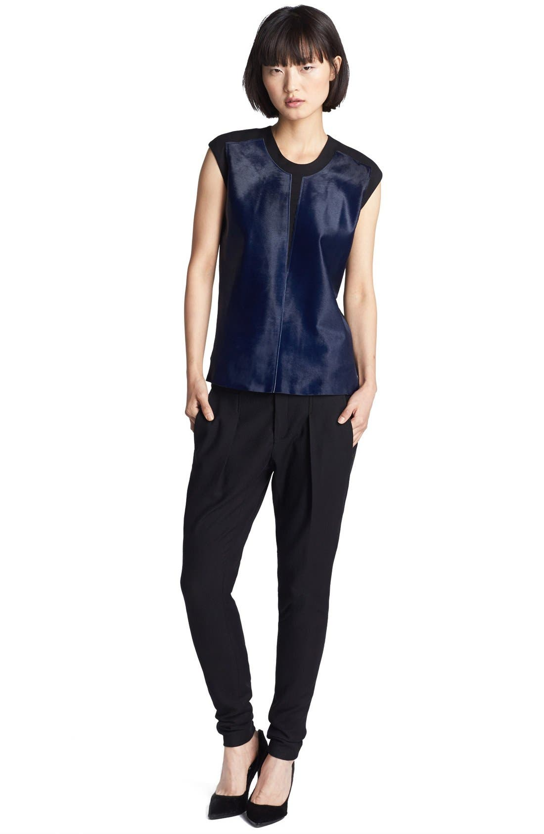 Alternate Image 2  - Helmut Lang Calf Hair Top