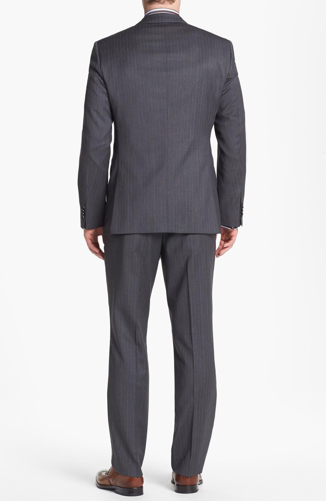 Alternate Image 3  - BOSS HUGO BOSS 'James/Sharp' Trim Fit Stripe Suit
