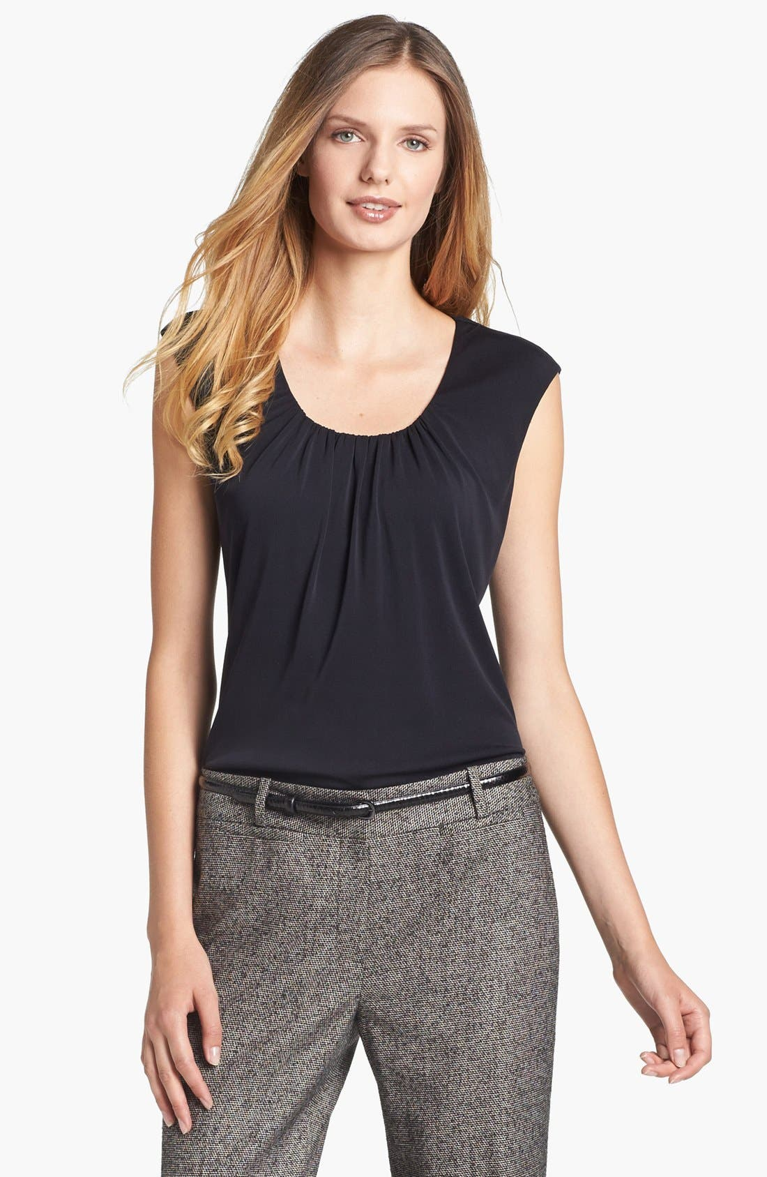 Main Image - Classiques Entier® Shirred Silk Blend Jersey Top