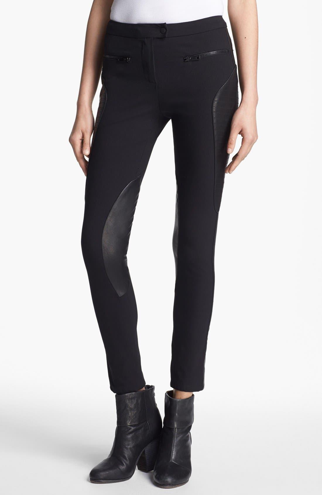 Alternate Image 1 Selected - rag & bone 'Ilford' Leather Panel Pants