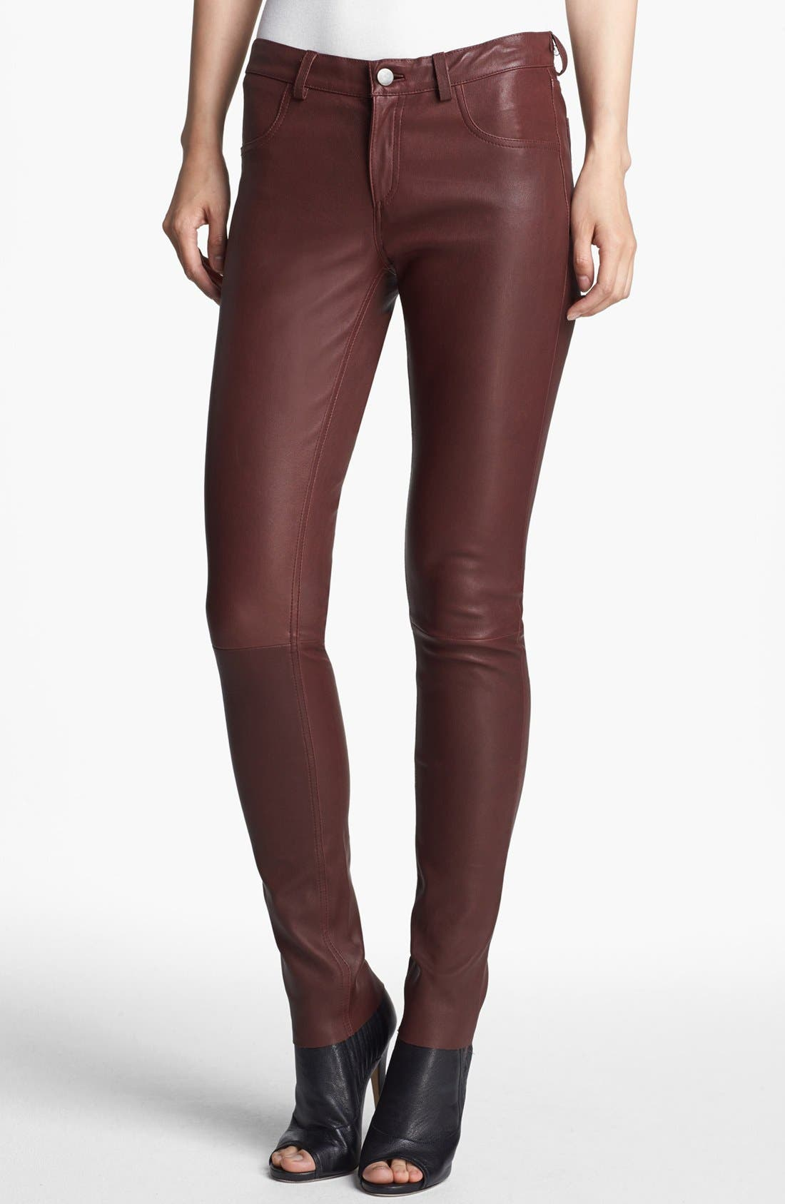 Alternate Image 1 Selected - Haute Hippie Skinny Leather Pants