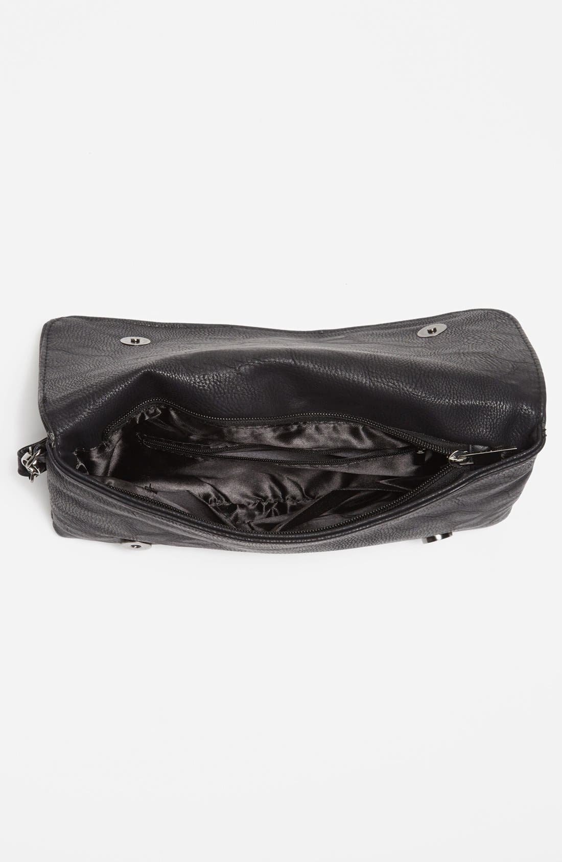 Alternate Image 3  - Natasha Couture Woven Faux Leather Clutch