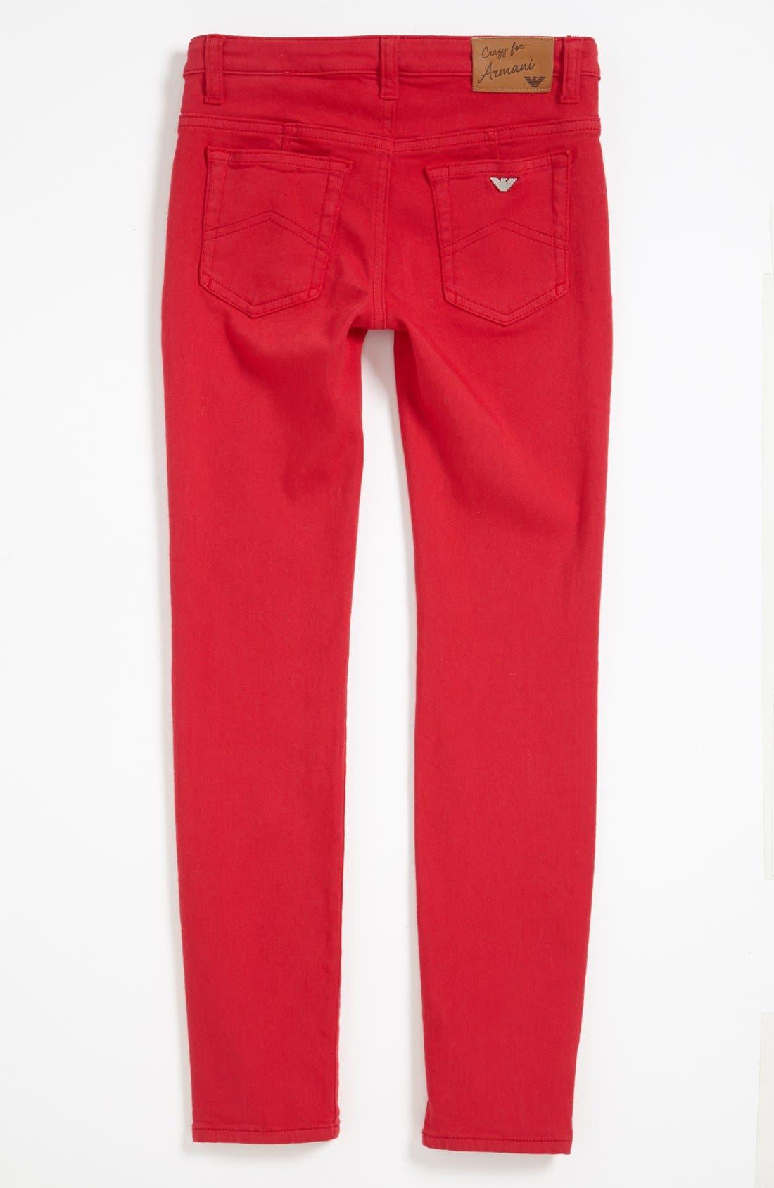 Alternate Image 1 Selected - Armani Junior Stretch Pants (Big Girls)