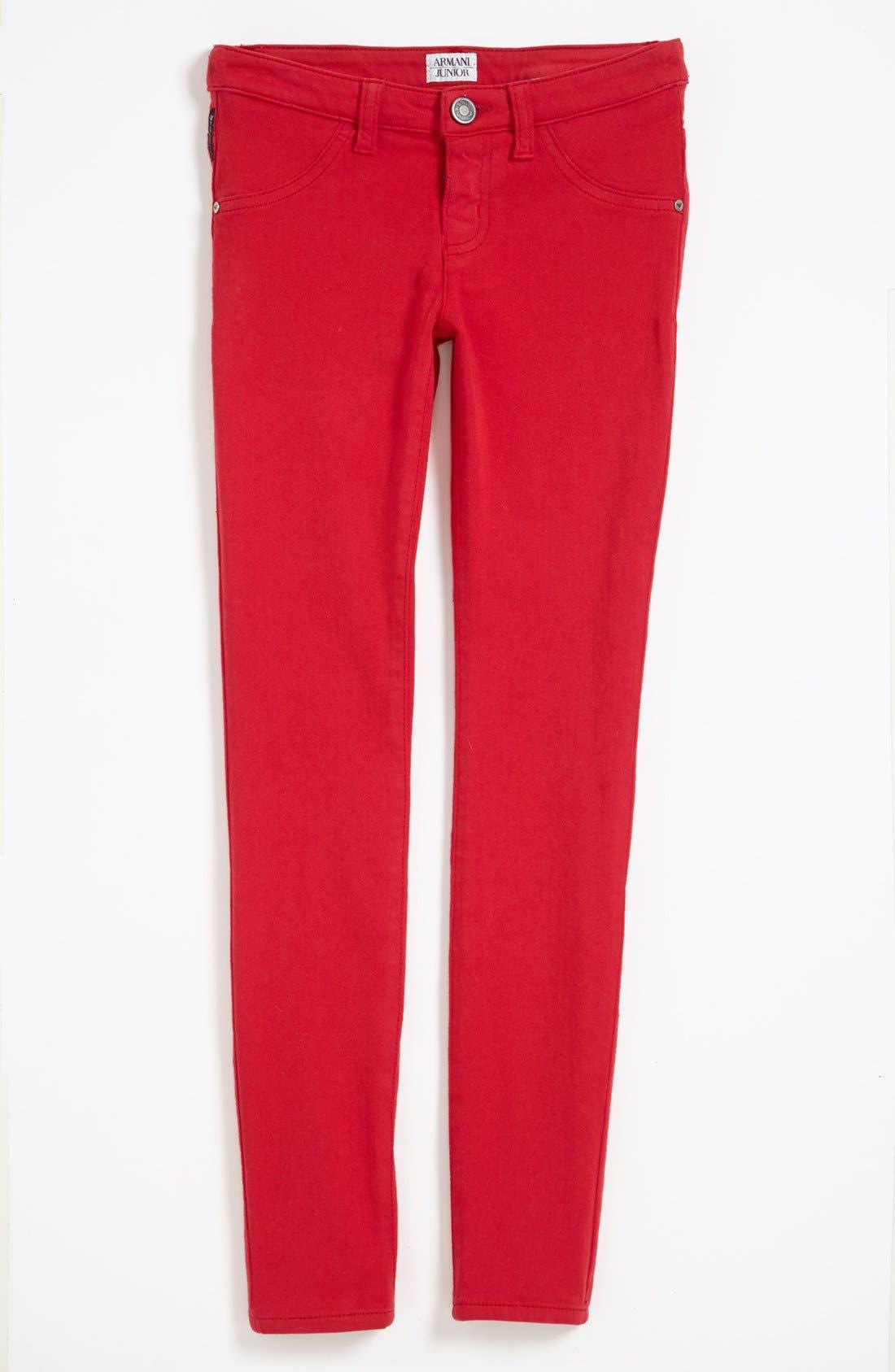 Alternate Image 2  - Armani Junior Stretch Pants (Big Girls)