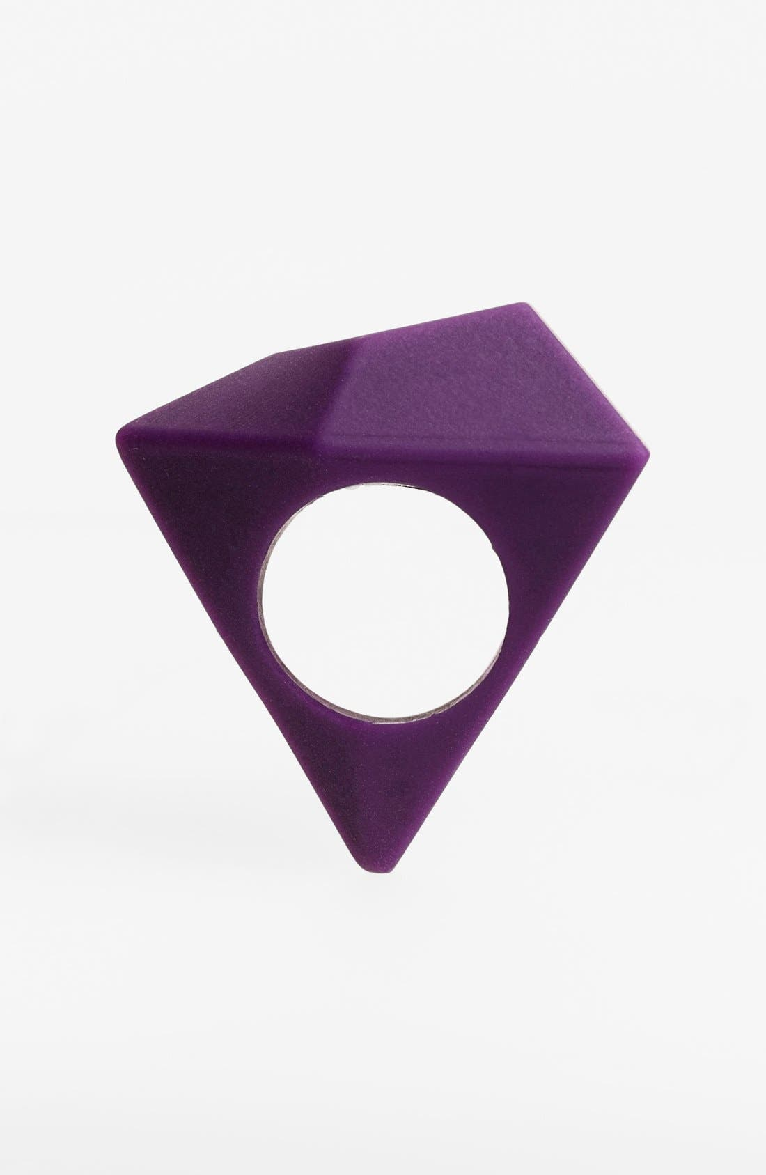 Alternate Image 2  - MARC BY MARC JACOBS 'Rock' Rubber Statement Ring