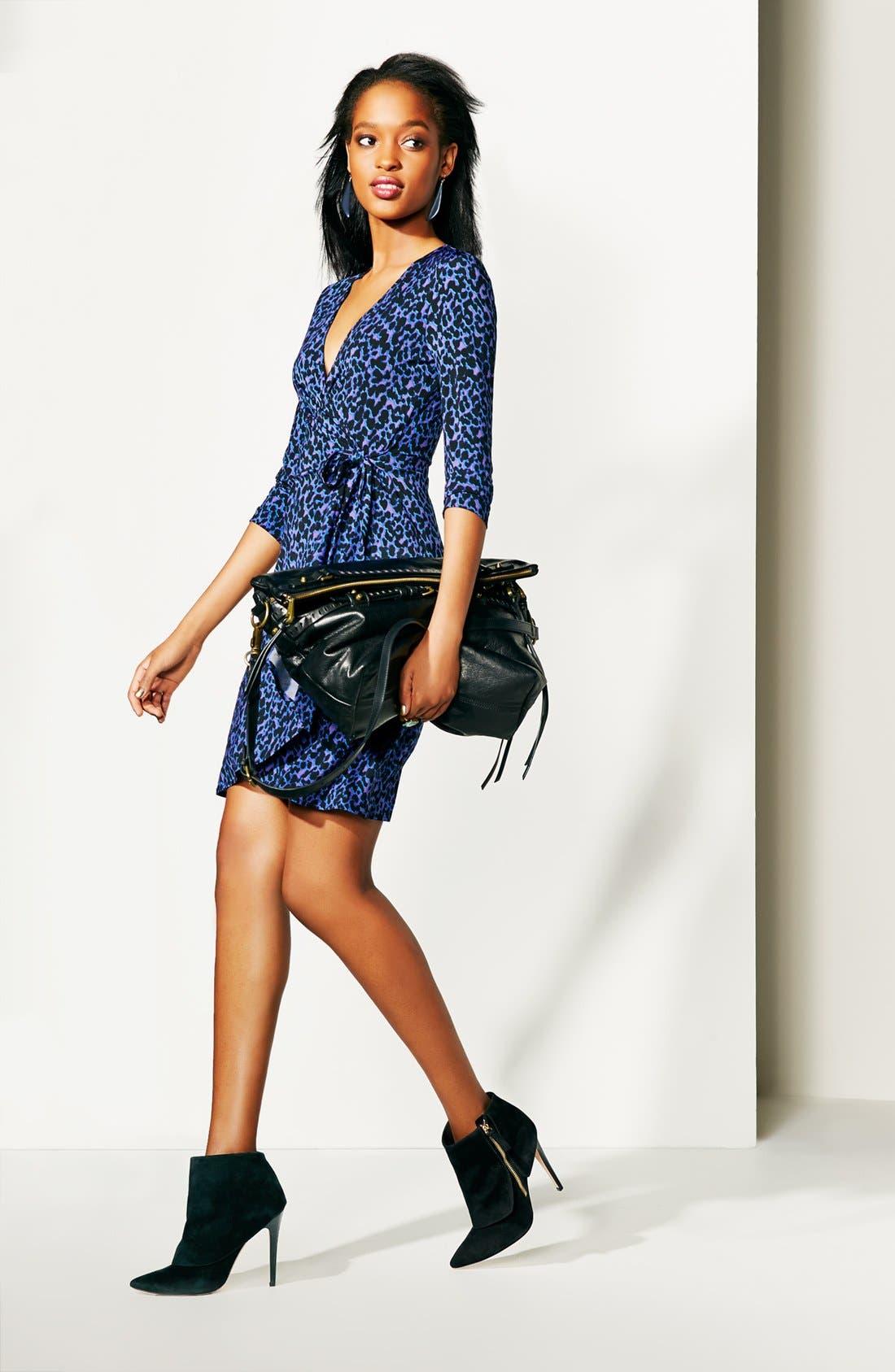 Alternate Image 4  - BCBGMAXAZRIA Print Jersey Wrap Dress