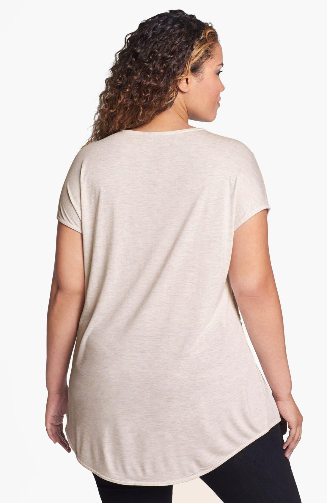 Alternate Image 2  - Kische Embellished Lace Overlay Top (Plus Size)