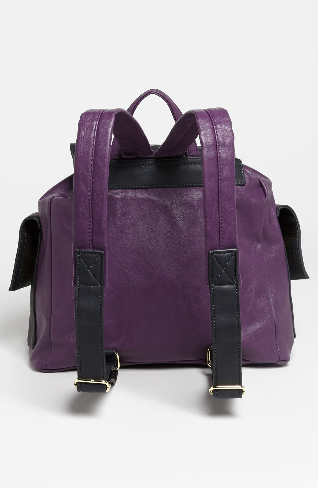 Alternate Image 4  - Steve Madden Faux Leather Backpack