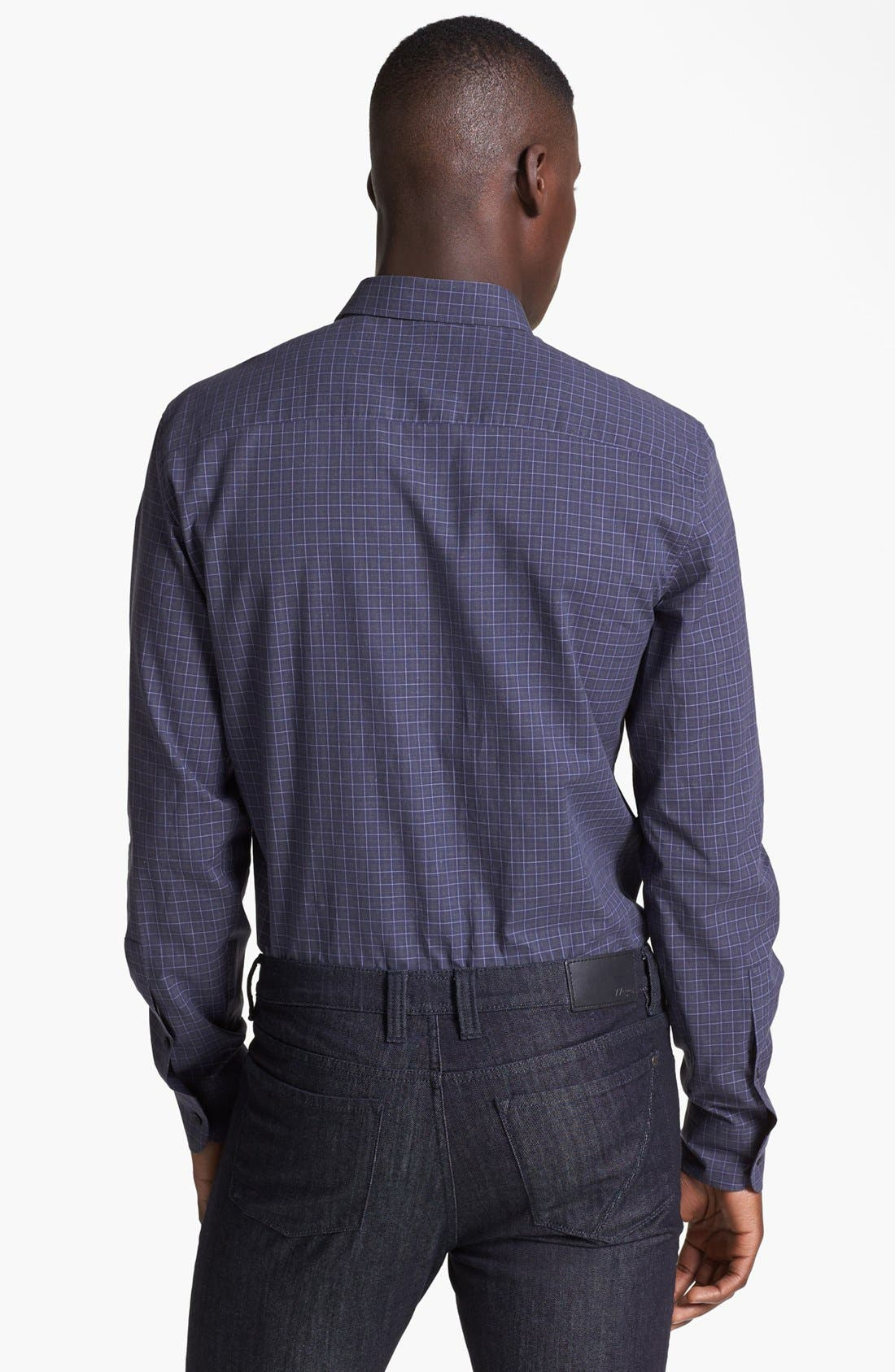 Alternate Image 2  - Z Zegna Colorblock Check Woven Shirt