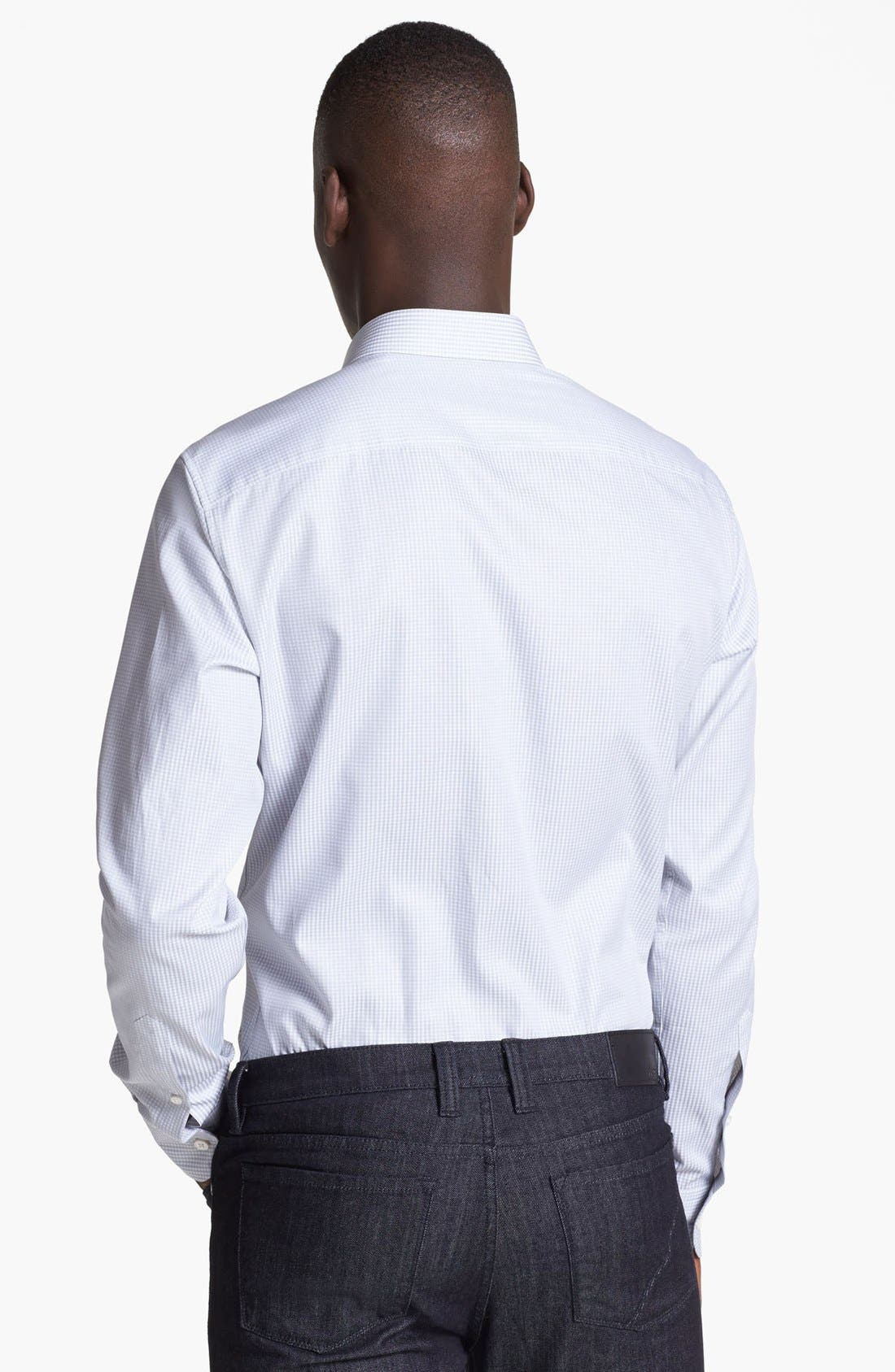 Alternate Image 2  - Z Zegna Slim Fit Microcheck Woven Shirt