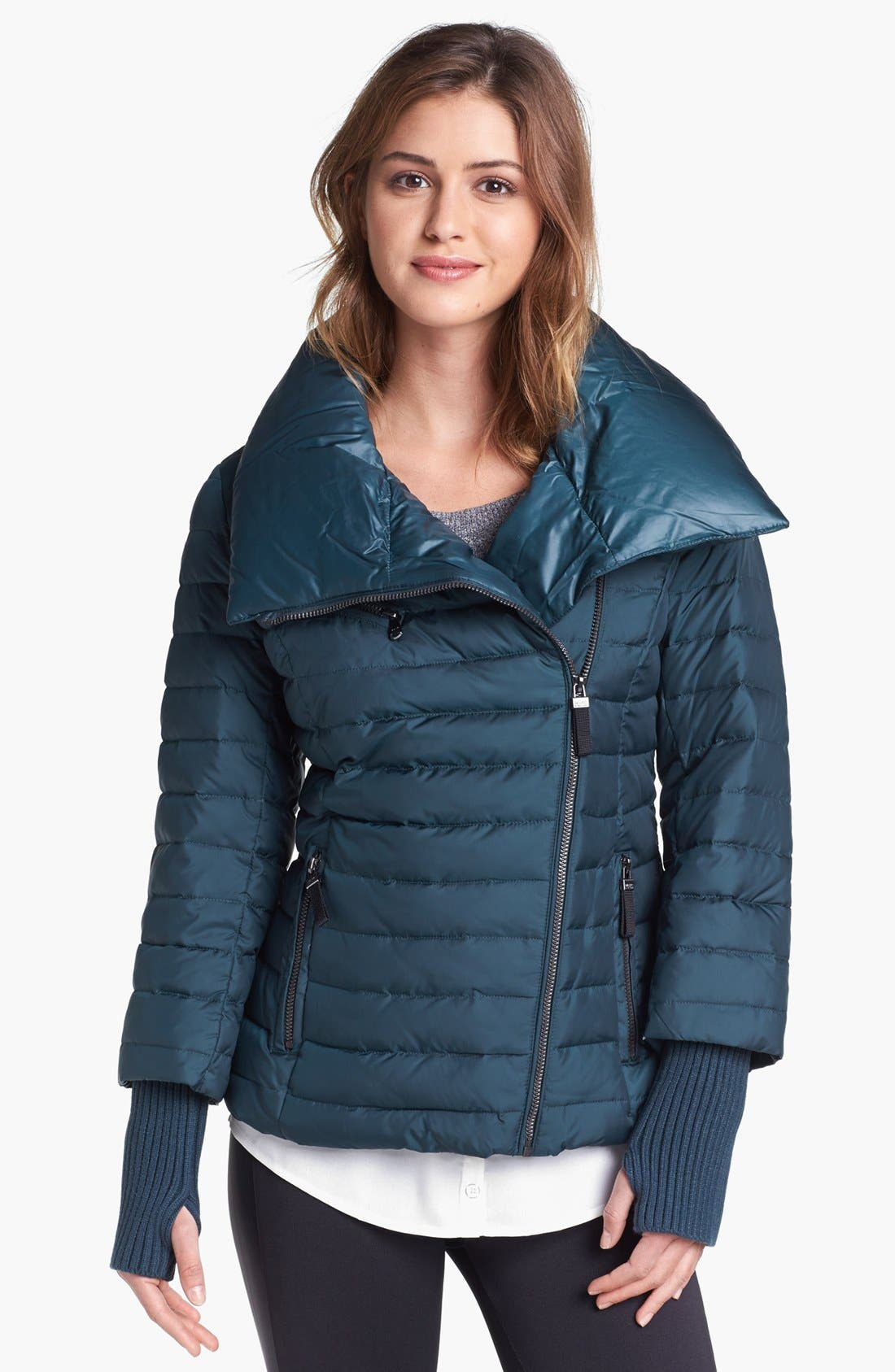 Main Image - Marc New York by Andrew Marc 'Sparks' Knit Cuff Puffer Jacket