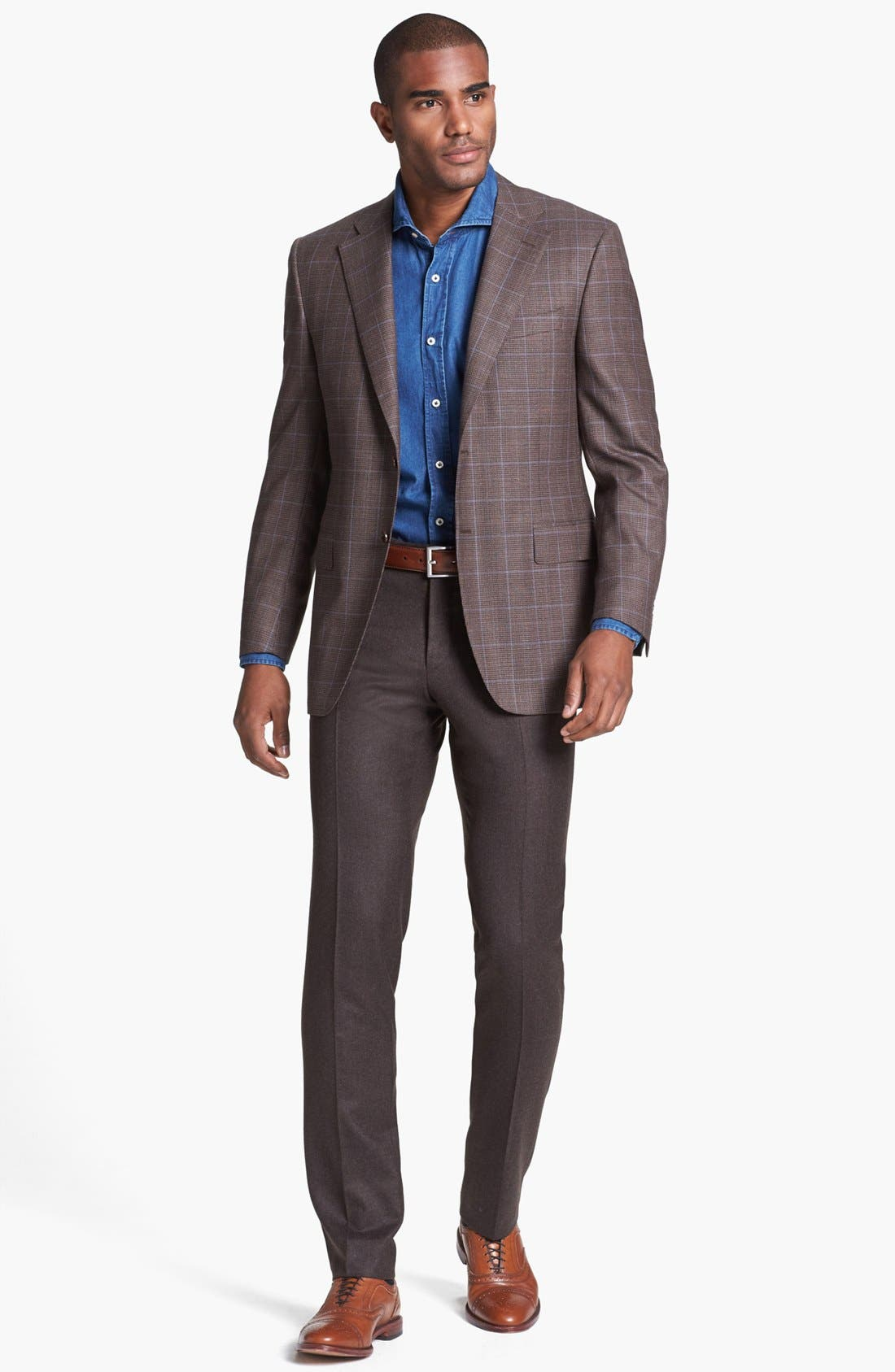 Alternate Image 4  - Canali Classic Fit Check Sportcoat