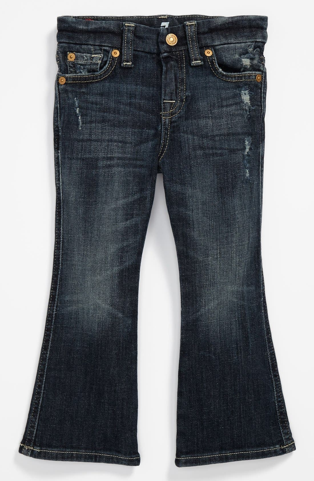 Alternate Image 2  - 7 For All Mankind® Flare Jeans (Toddler Girls)