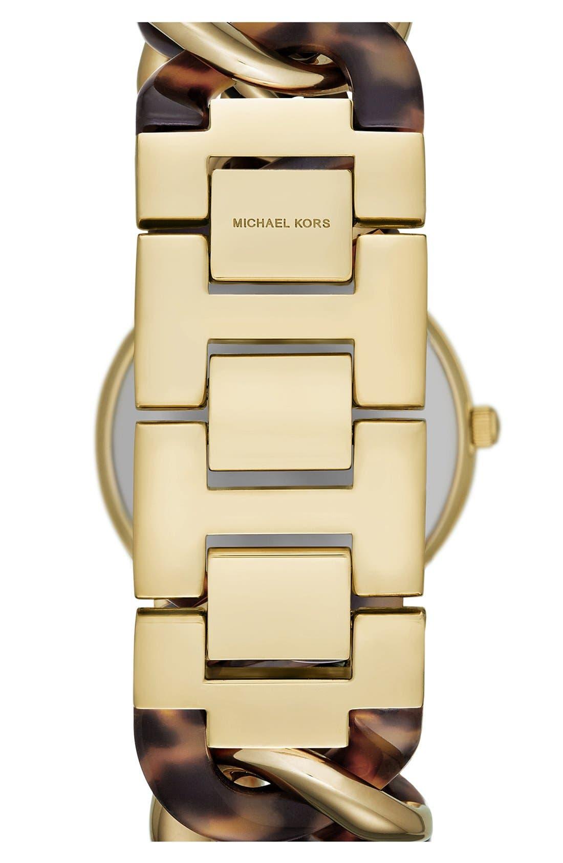 Alternate Image 2  - Michael Kors 'Lady Nini' Chain Link Bracelet Watch, 35mm