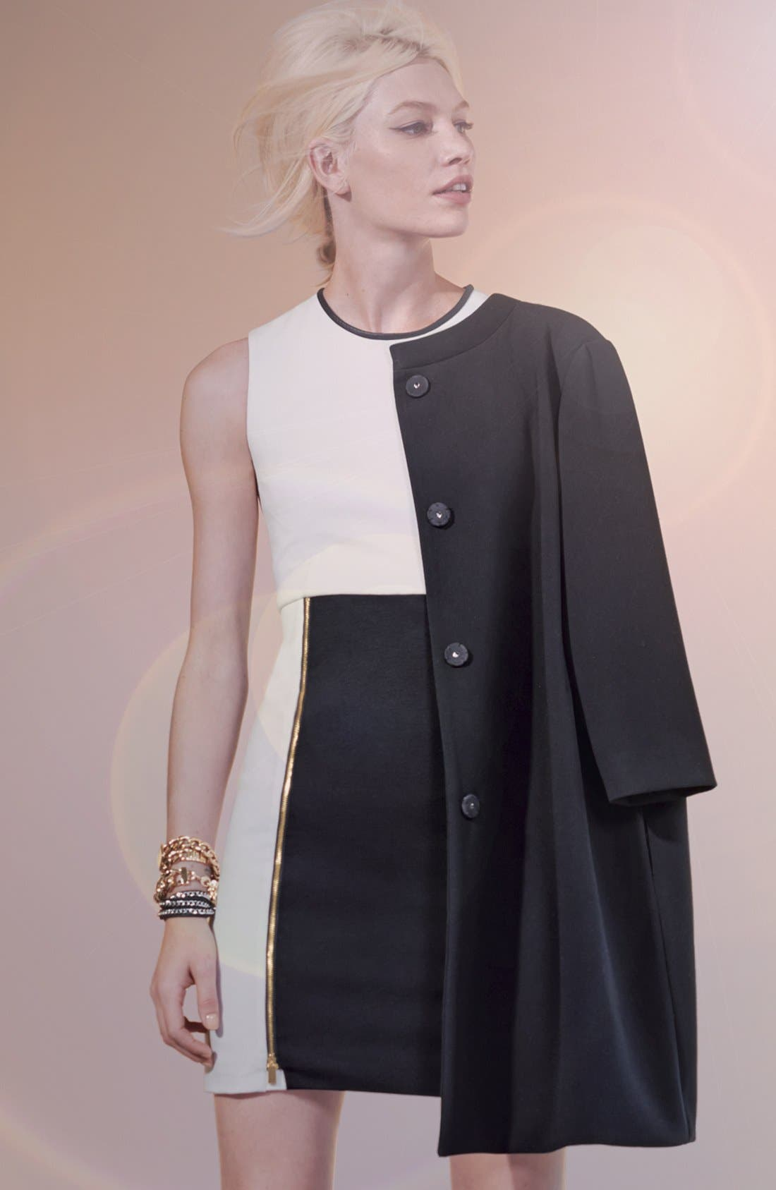 Alternate Image 1 Selected - Vince Camuto Coat & Colorblock Sheath Dress
