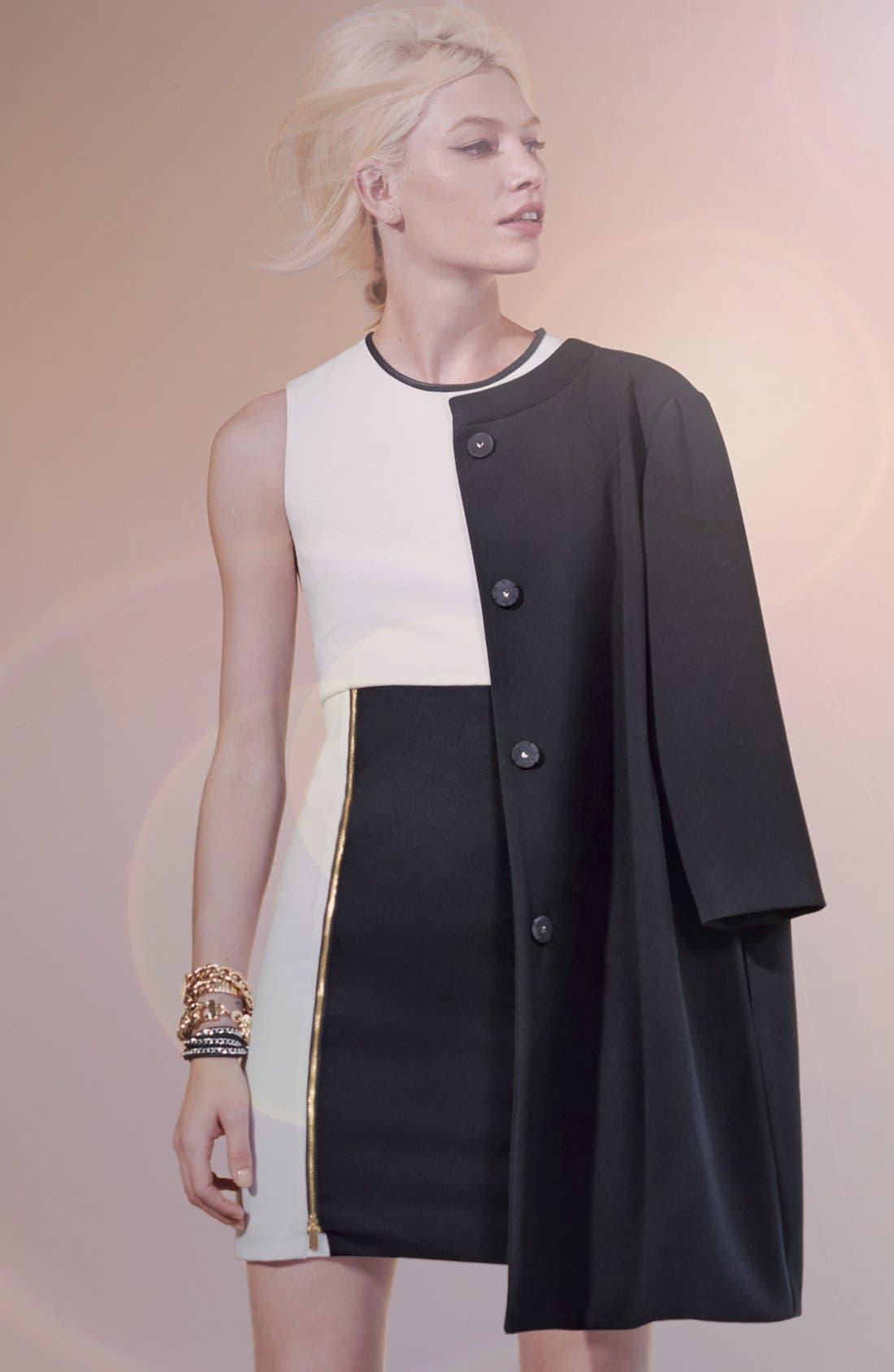 Main Image - Vince Camuto Coat & Colorblock Sheath Dress