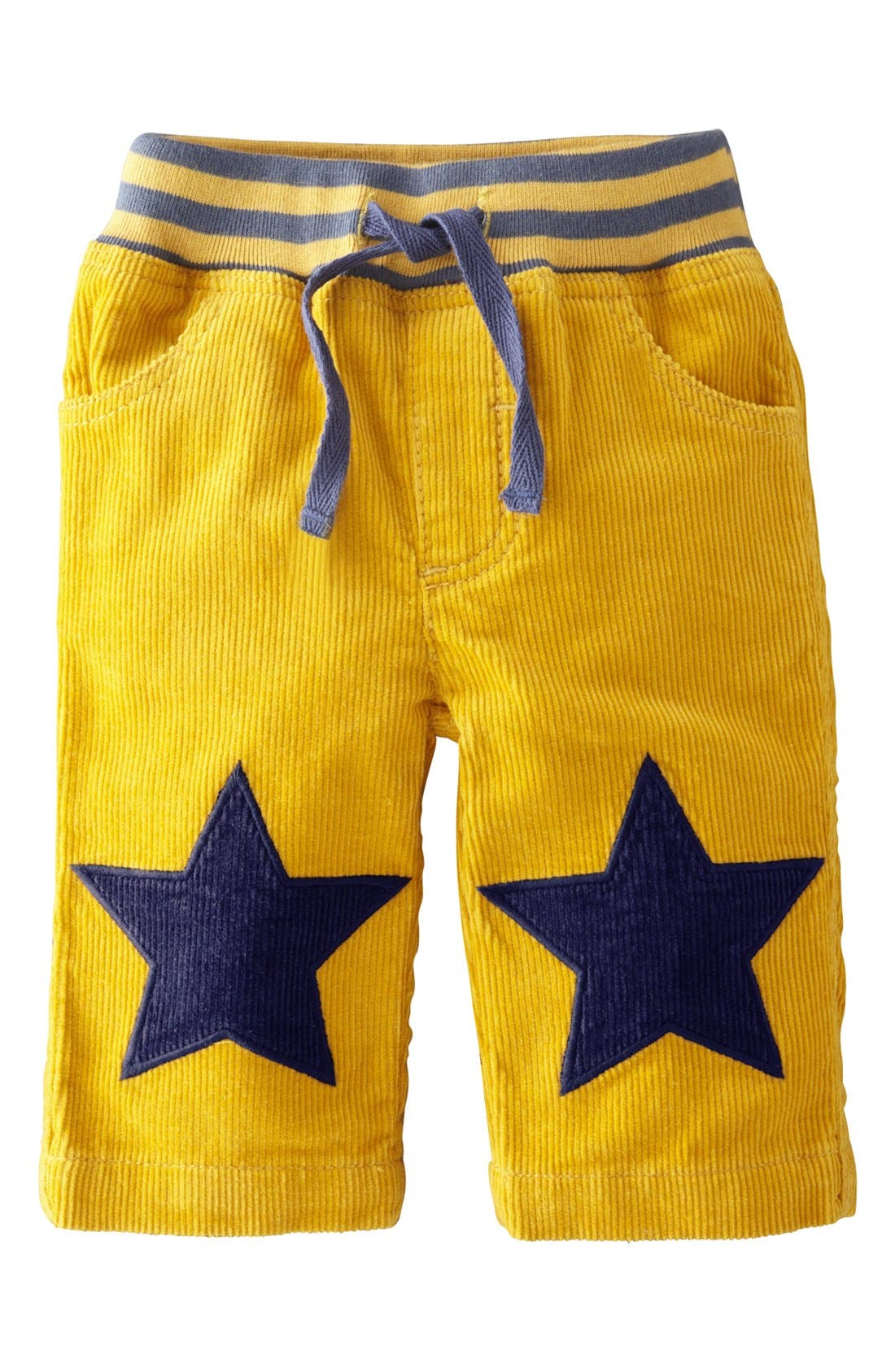 Main Image - Mini Boden 'Star Patch' Pants (Baby Boys)