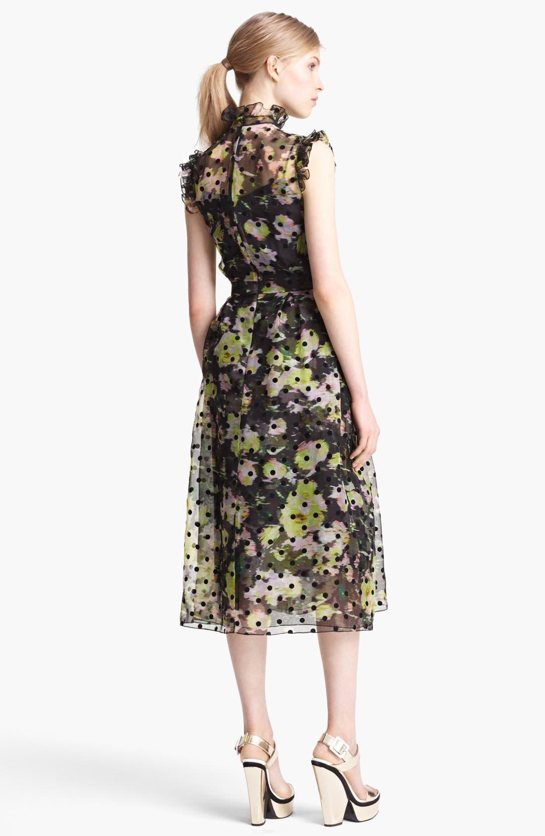 Alternate Image 2  - Erdem 'Clarity' Dot Floral Print Organza Dress