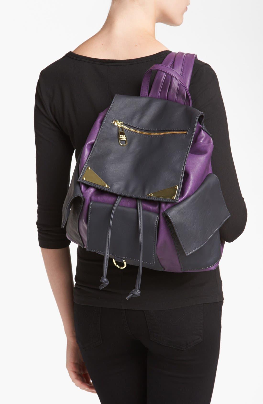 Alternate Image 2  - Steve Madden Faux Leather Backpack