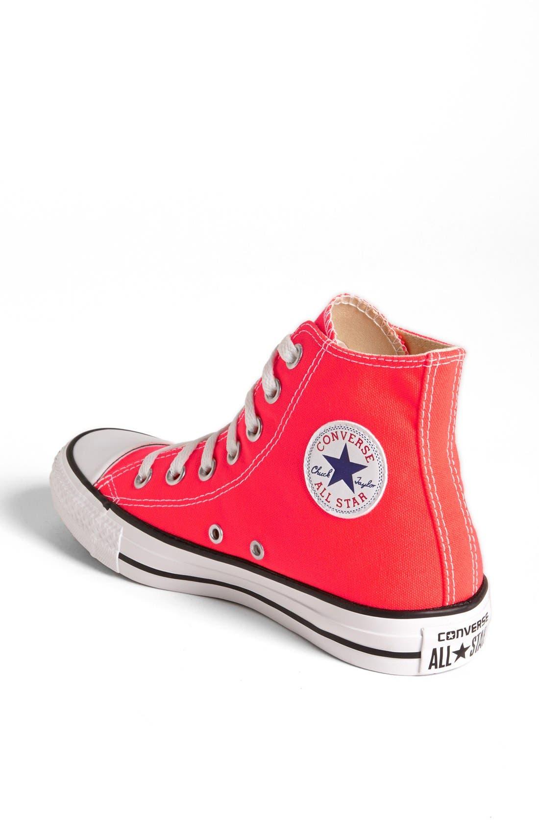 Alternate Image 2  - Converse Chuck Taylor® All Star® 'Fiery Coral' High Top Sneaker (Women)