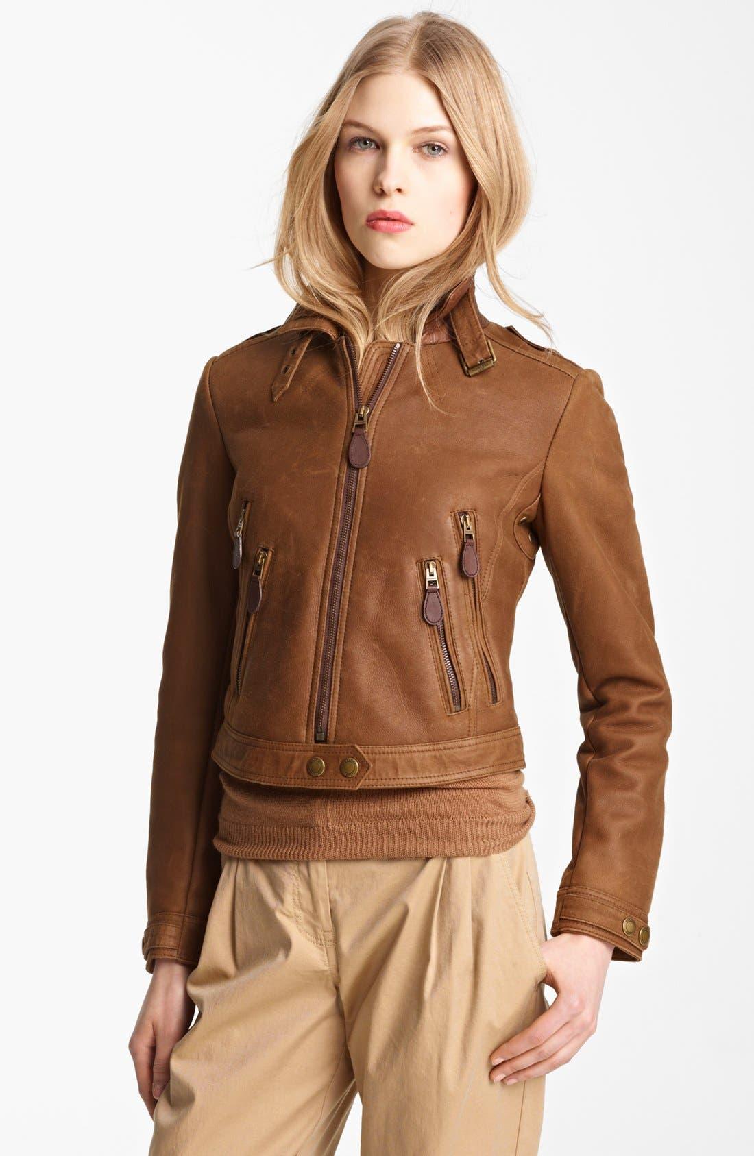 Main Image - Burberry Brit 'Roebuck' Genuine Shearling Jacket