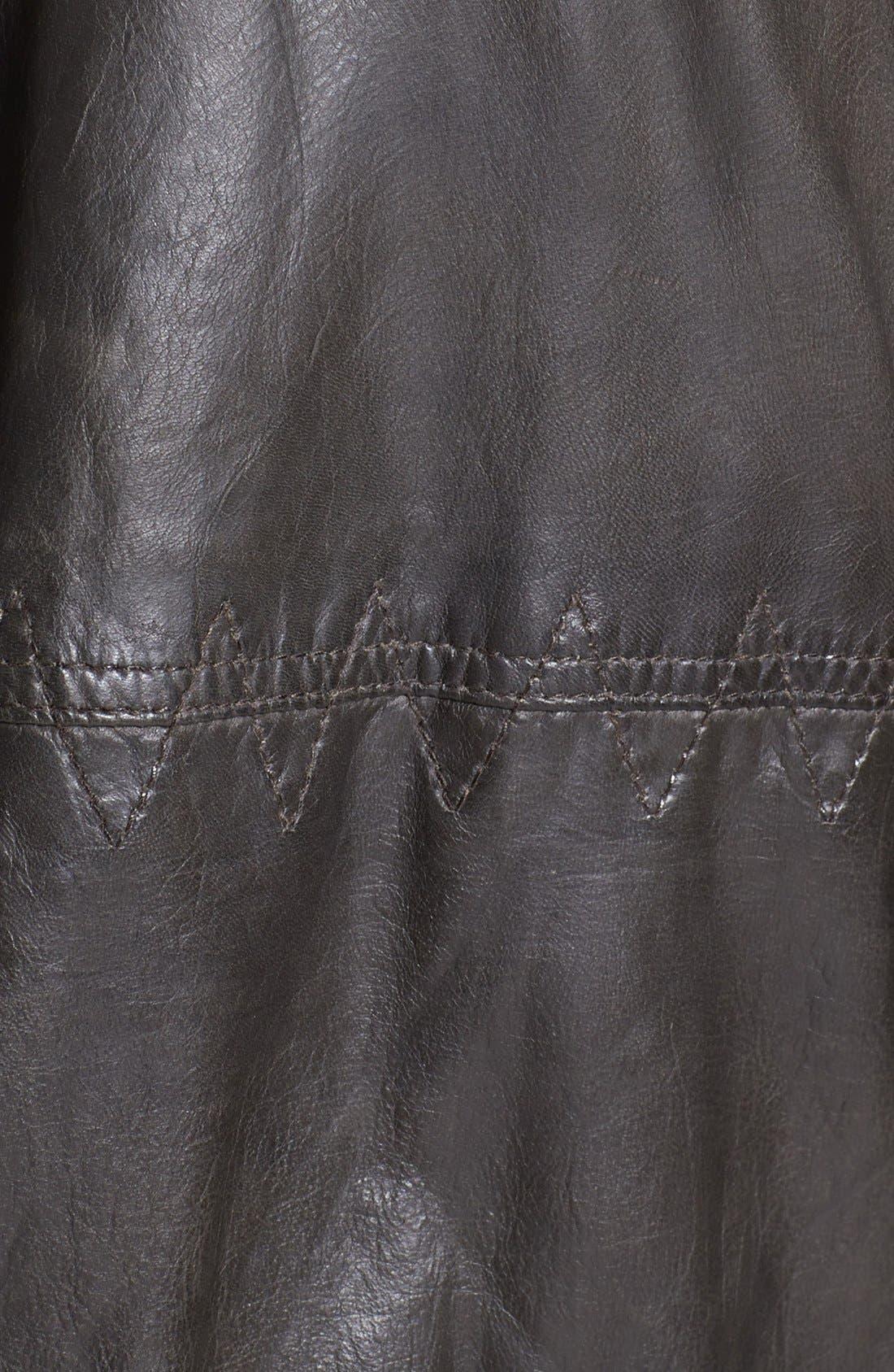 Alternate Image 3  - BOSS Orange 'Jonger' Hooded Leather Jacket