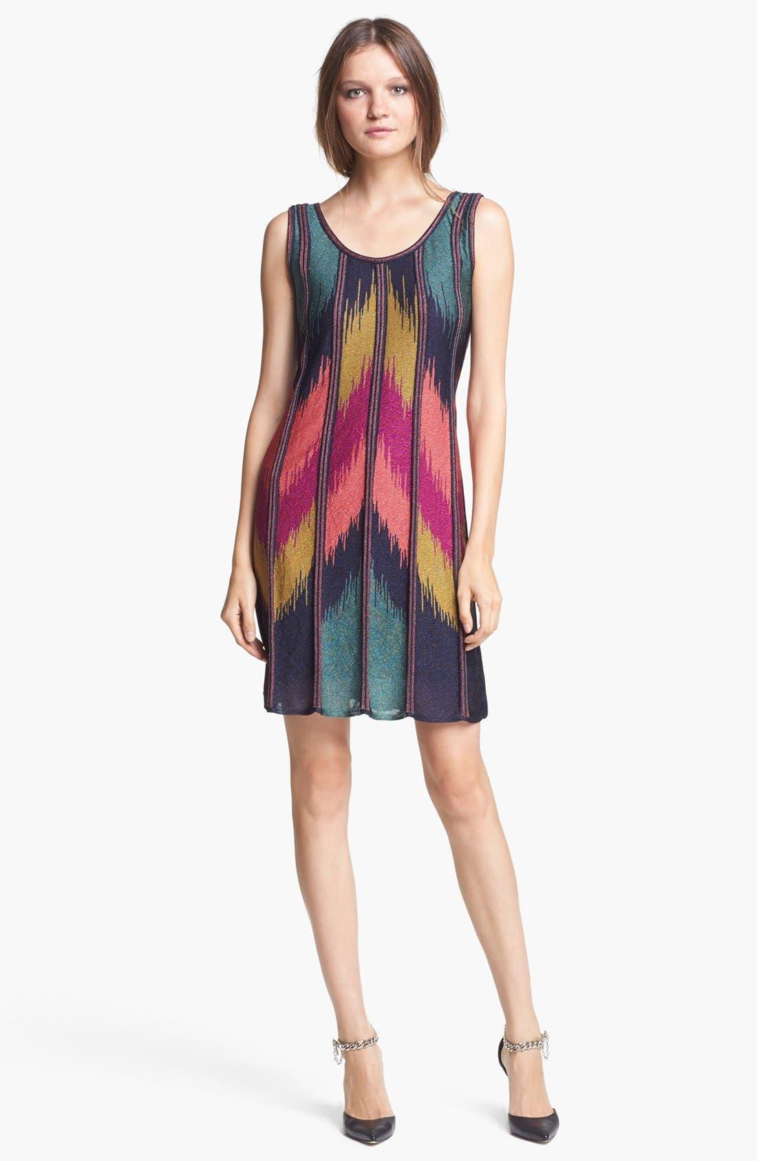 Alternate Image 1 Selected - M Missoni Ikat Pattern Trapeze Dress