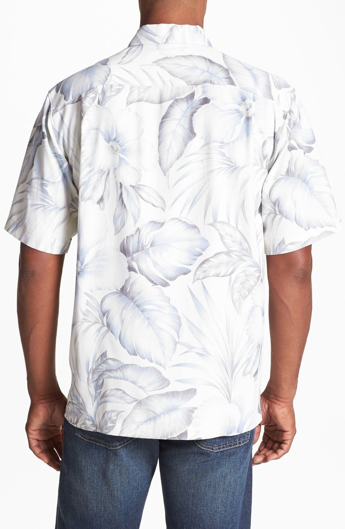 Alternate Image 2  - Tommy Bahama 'Gardens of Casablanca' Silk Campshirt
