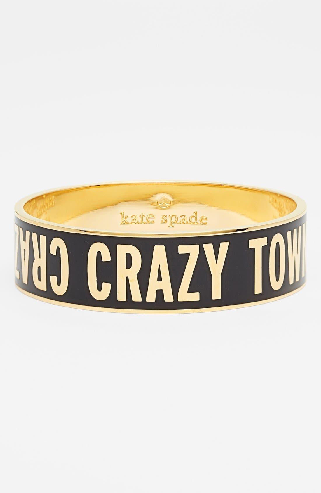 Alternate Image 1 Selected - kate spade new york 'idiom - crazy town' bangle