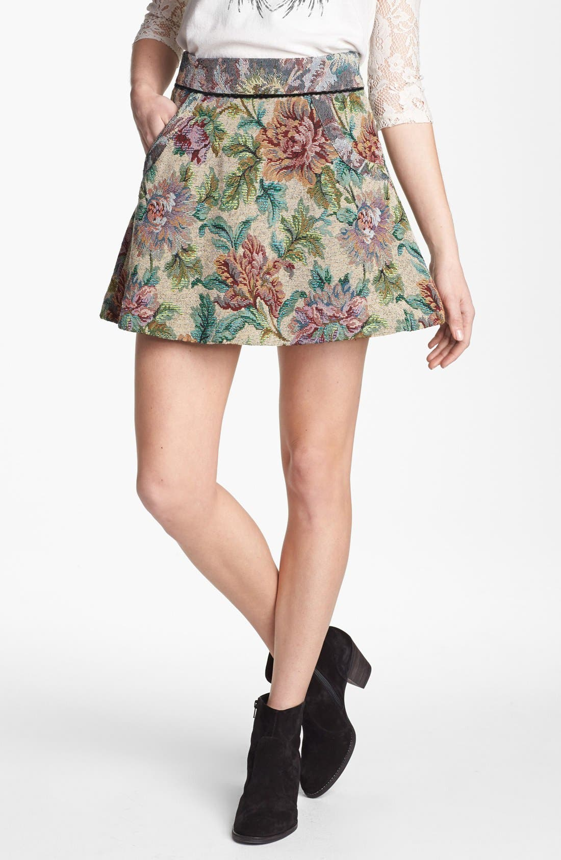 Alternate Image 1 Selected - Free People Tapestry Skirt