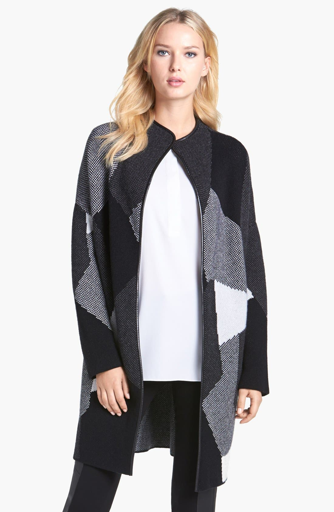 Main Image - Nordstrom Collection Leather Trim Cashmere Car Coat
