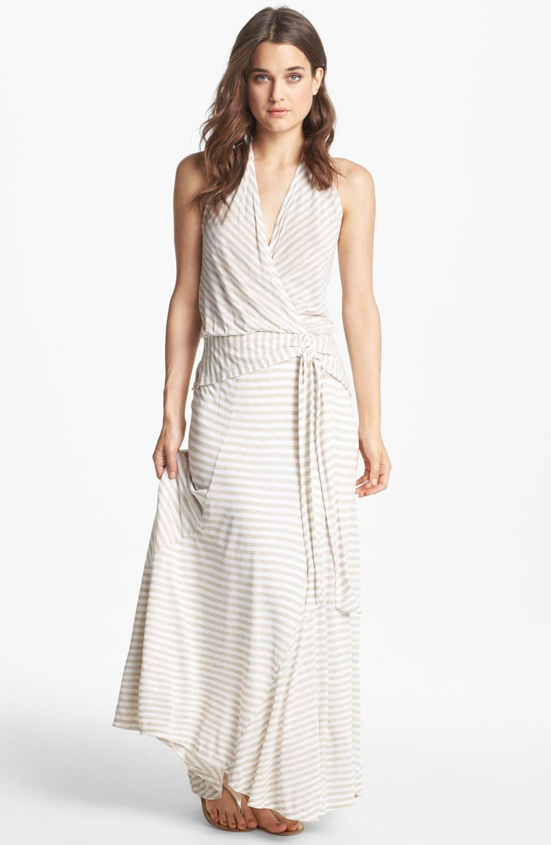 Alternate Image 1 Selected - Ella Moss Stripe High/Low Maxi Dress