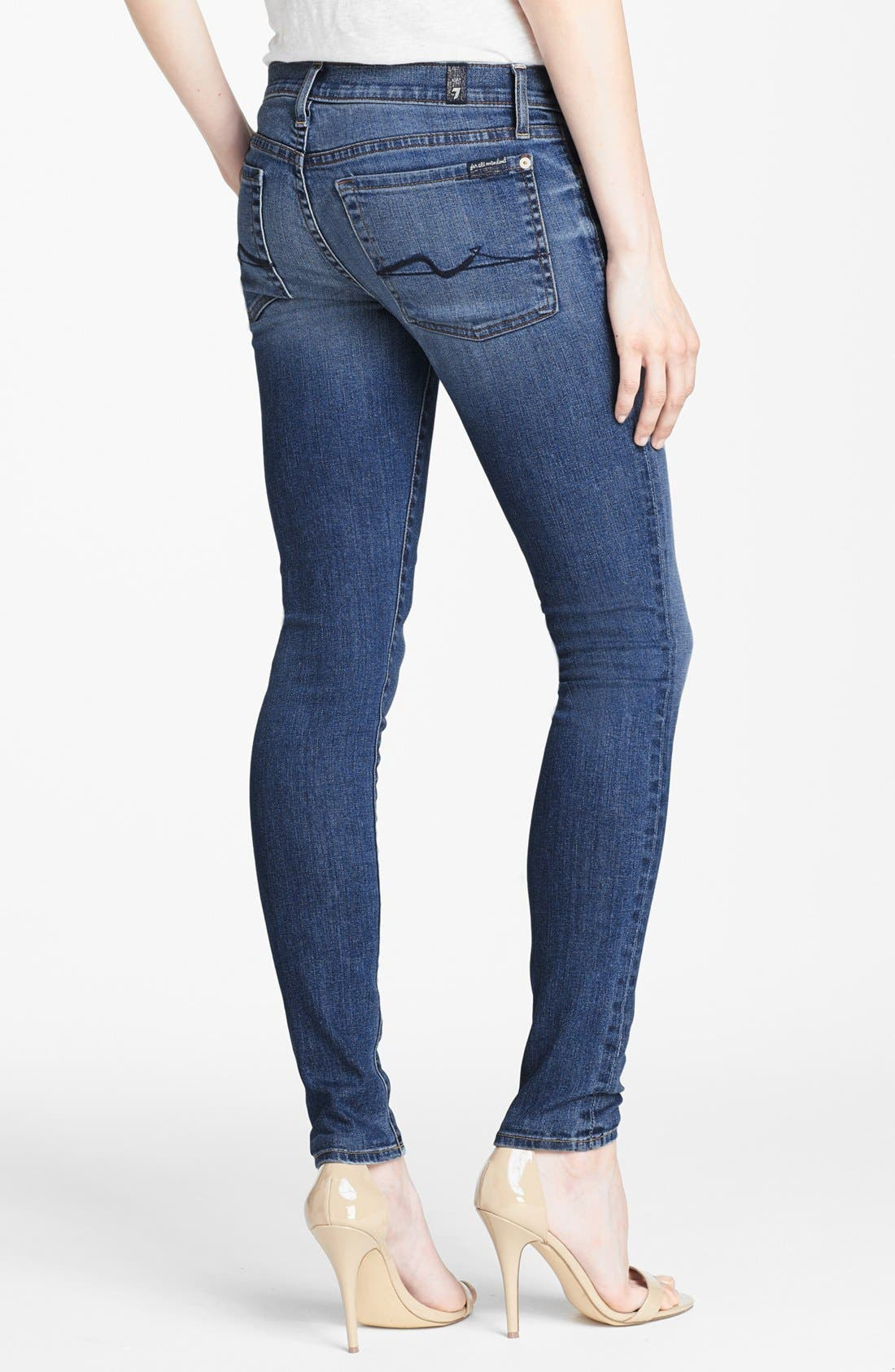 Alternate Image 2  - 7 For All Mankind® 'The Skinny with Squiggle' Skinny Jeans