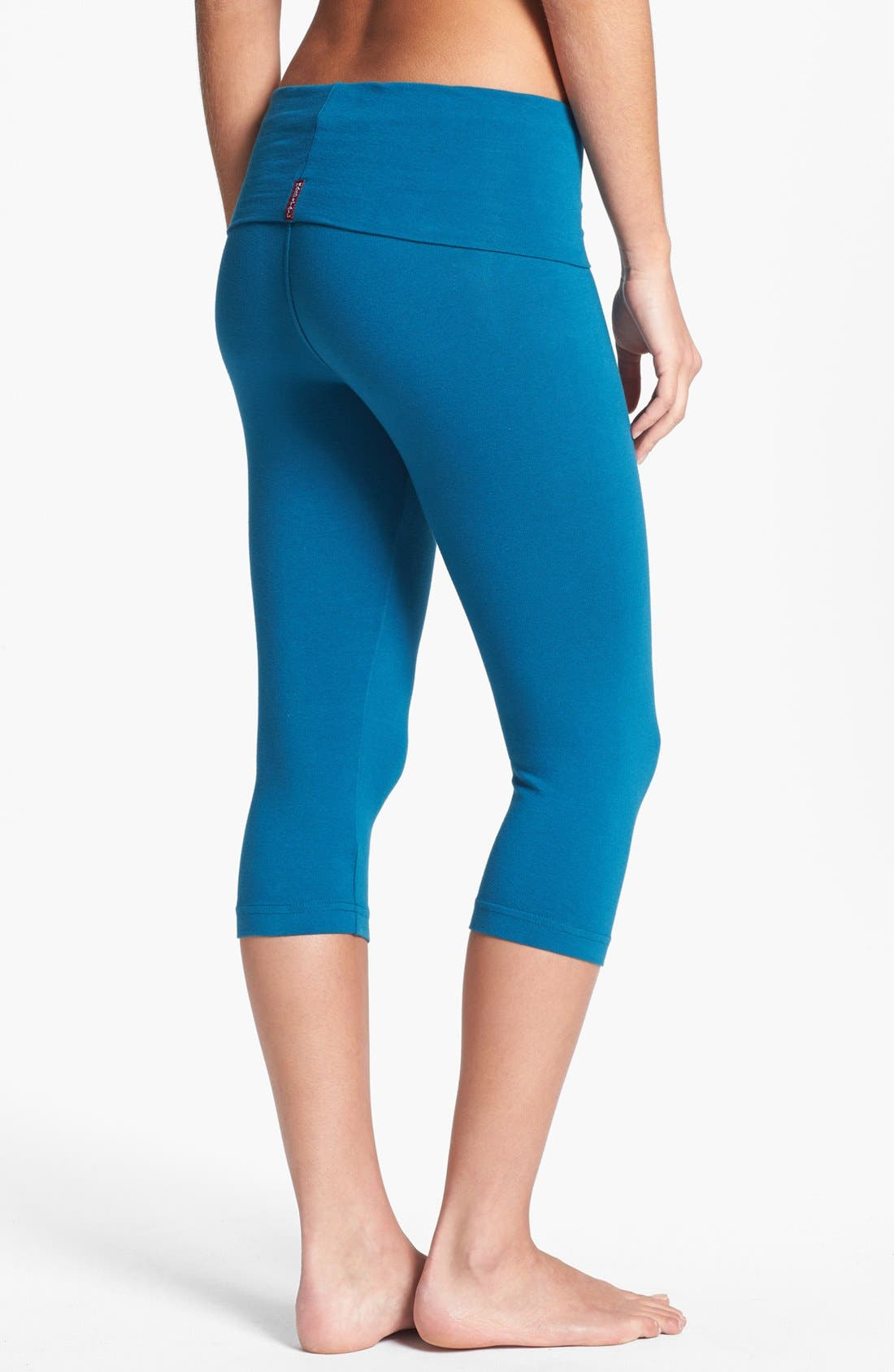 Alternate Image 2  - Hard Tail Roll Waist Knee Length Leggings