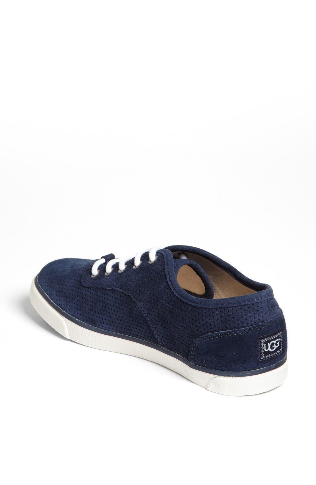 Alternate Image 2  - UGG® Australia 'Hally' Perforated Suede Sneaker