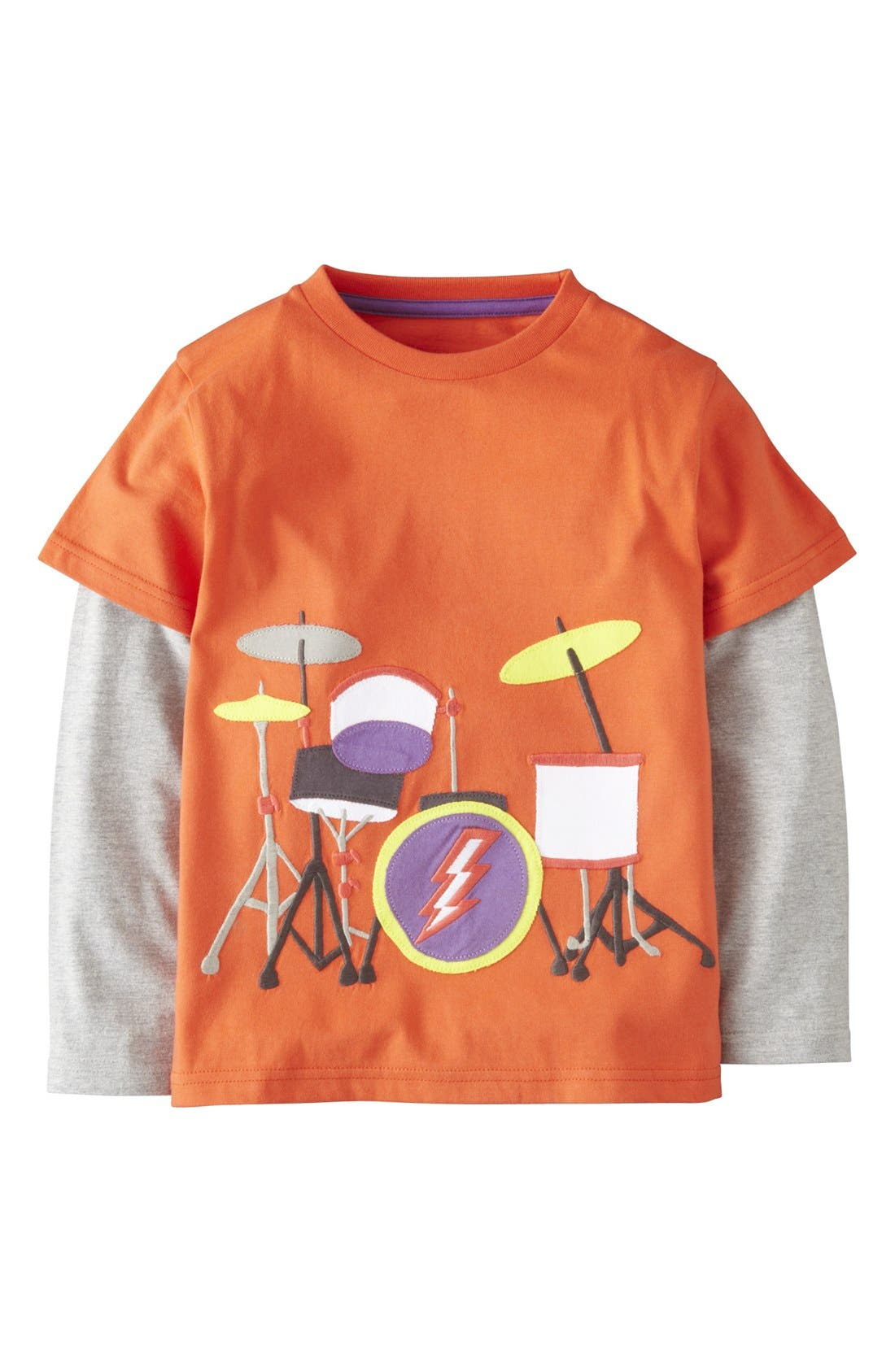 Main Image - Mini Boden Layered Long Sleeve T-Shirt (Toddler Boys, Little Boys & Big Boys)