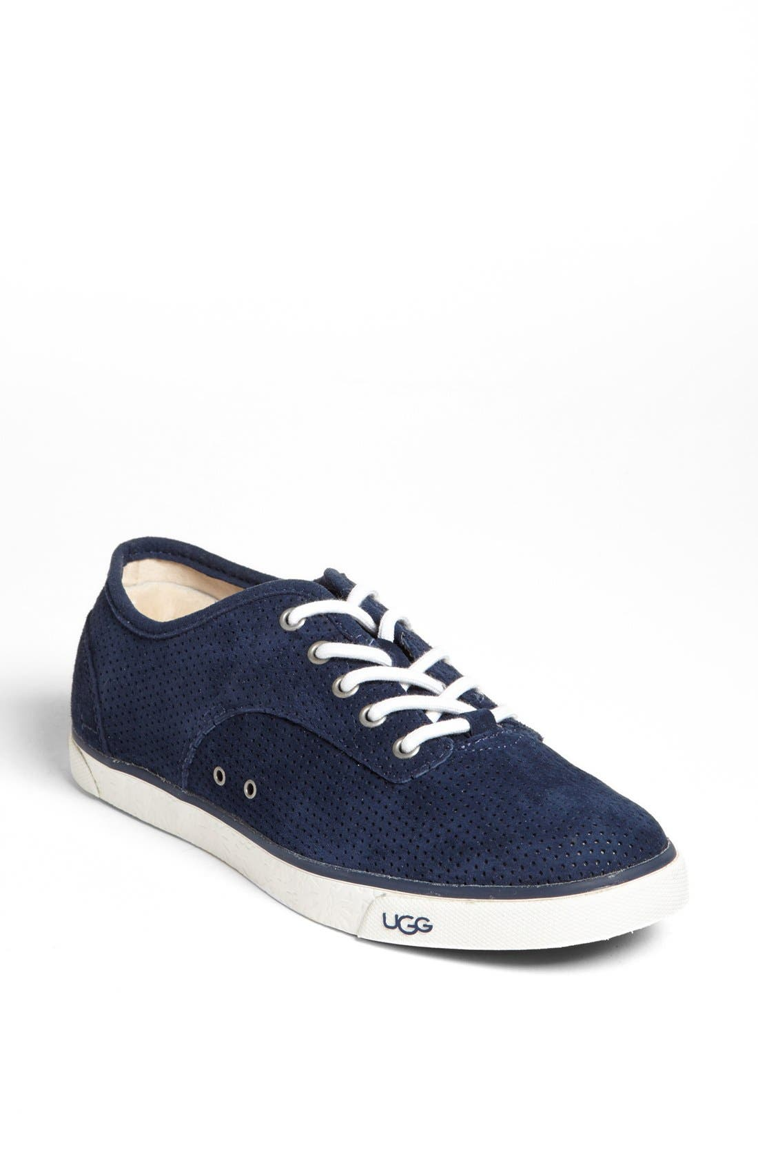 Alternate Image 1 Selected - UGG® Australia 'Hally' Perforated Suede Sneaker