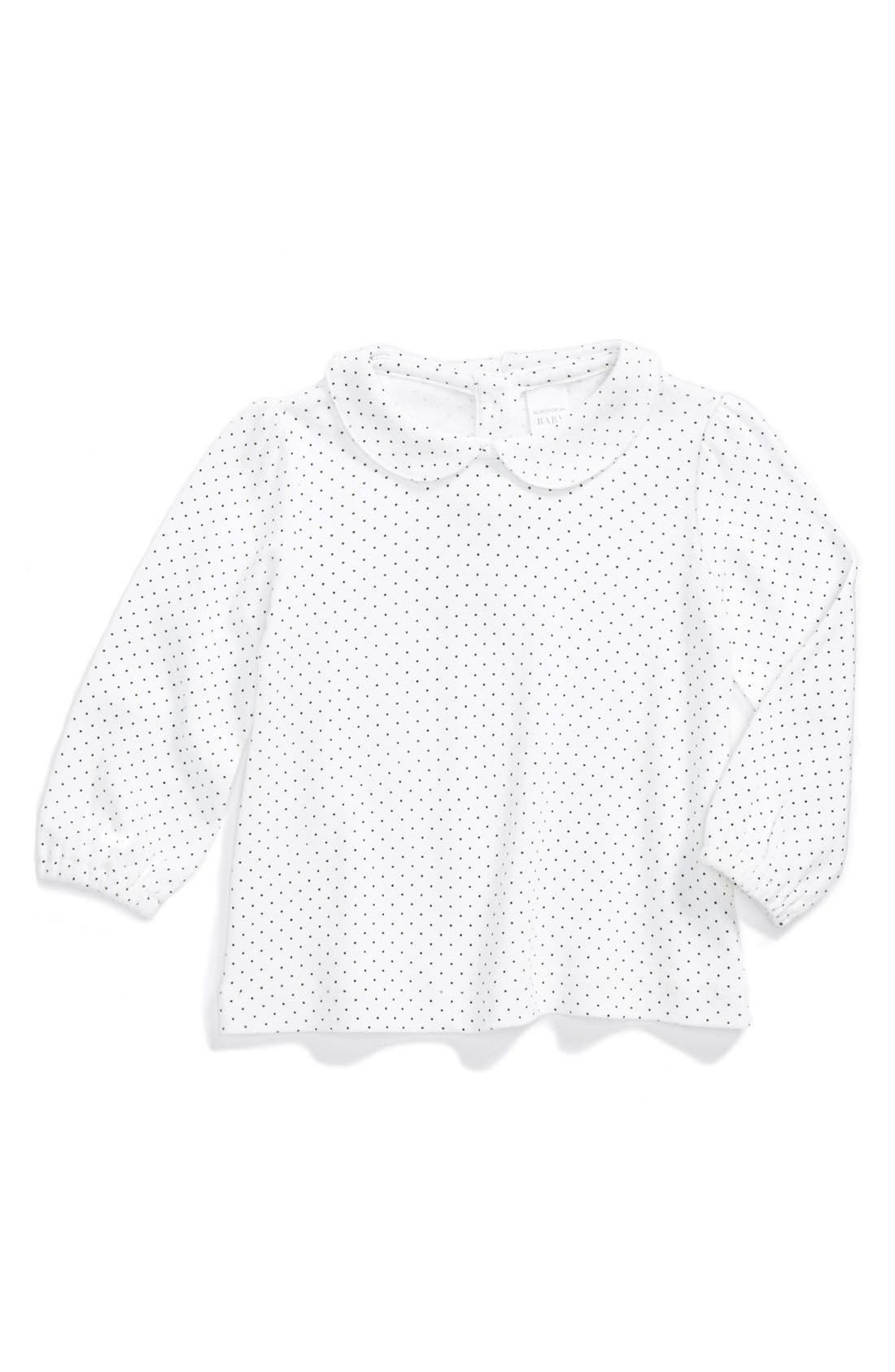 Alternate Image 1 Selected - Nordstrom Baby Long Sleeve Shirt (Baby Girls)