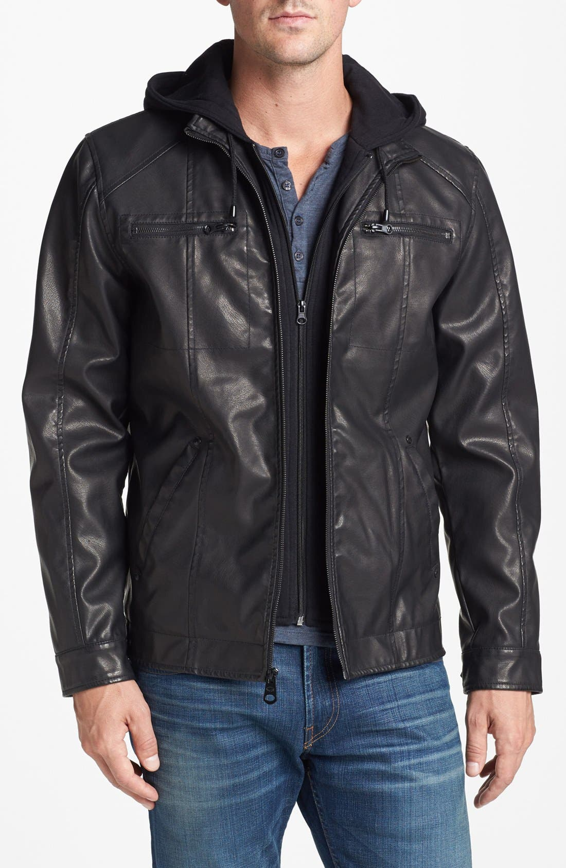 Buffalo By David Bitton Hooded Faux Leather Jacket Nordstrom