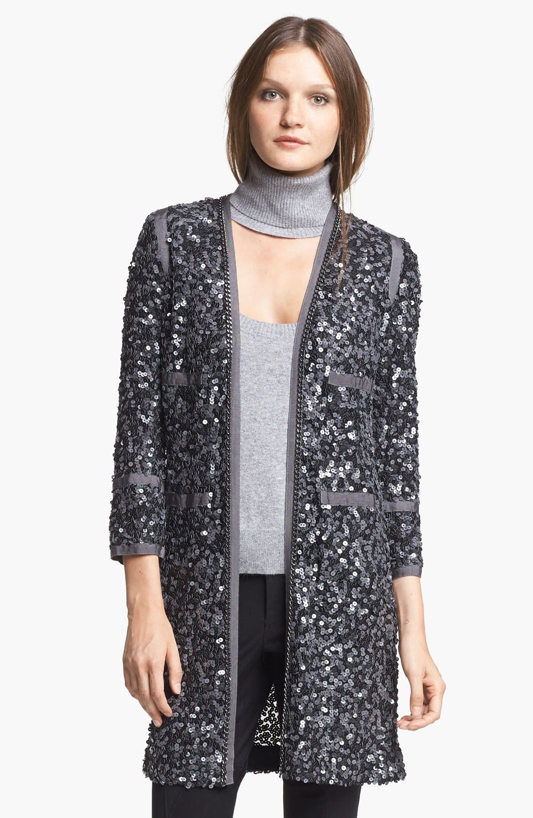 Alternate Image 1 Selected - Rachel Zoe 'Paulie' Long Sequin Jacket