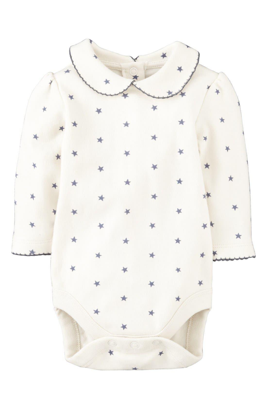 Main Image - Mini Boden 'Pretty Collar' Bodysuit (Baby Girls)