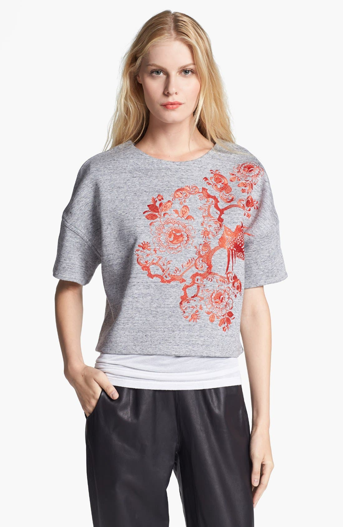 Alternate Image 1 Selected - Elizabeth and James 'Mira' Short Sleeve Sweatshirt