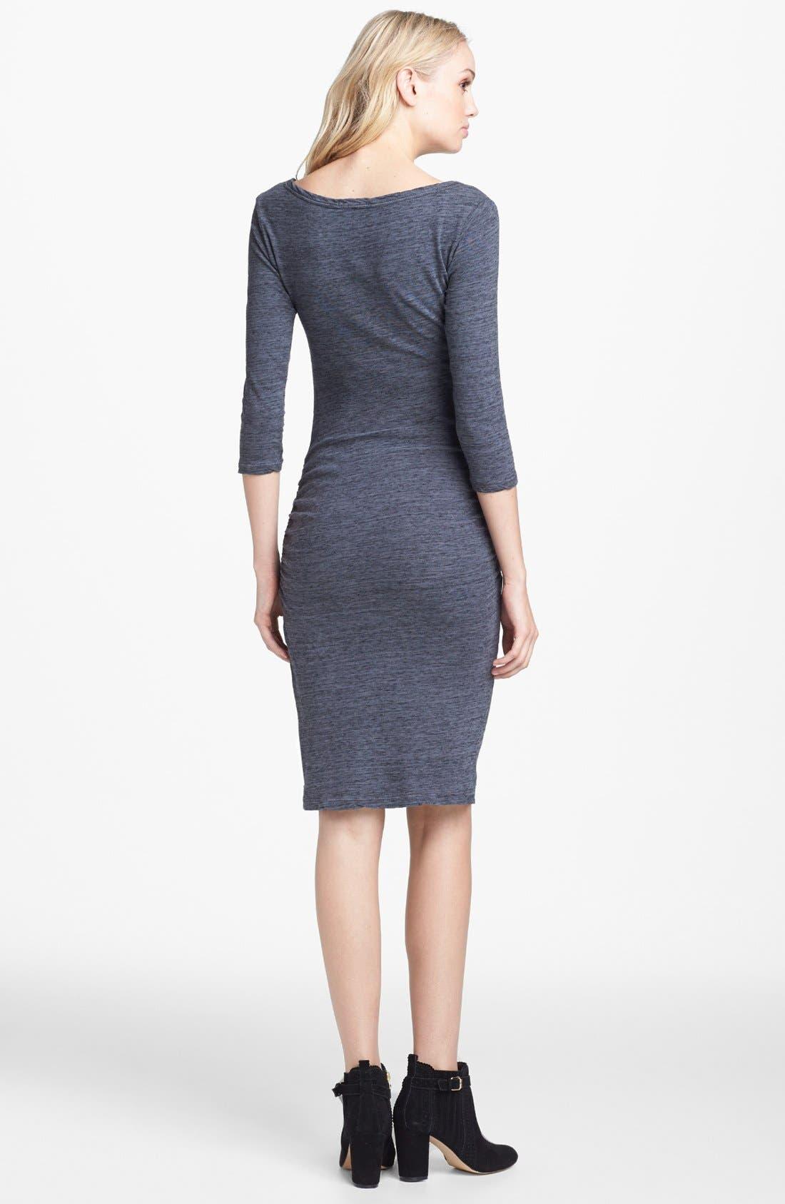 Alternate Image 2  - James Perse Jewel Neck Dress