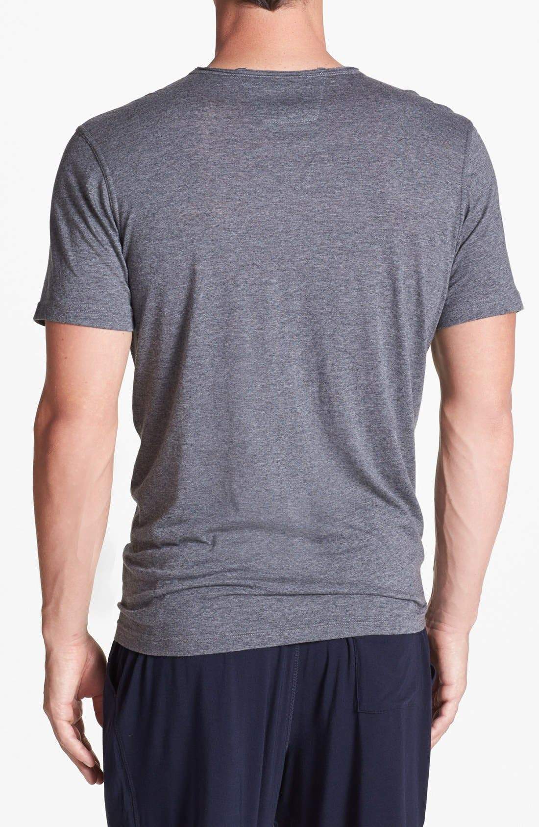 Alternate Image 2  - Daniel Buchler Cotton Blend V-Neck T-Shirt