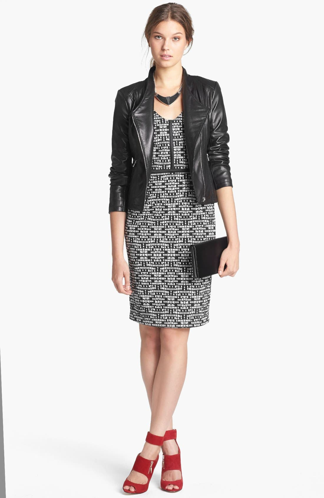 Alternate Image 5  - Adrianna Papell Jacquard Sheath Dress